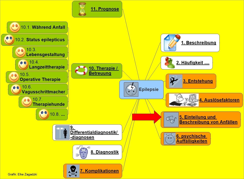 Epilepsie Einteilung und Beschreibung von Anfällen